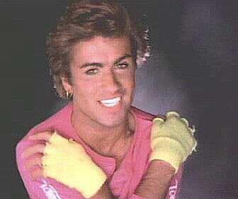 Triple whammy - George Michael + Fluro + Fingerless Gloves = 1980's