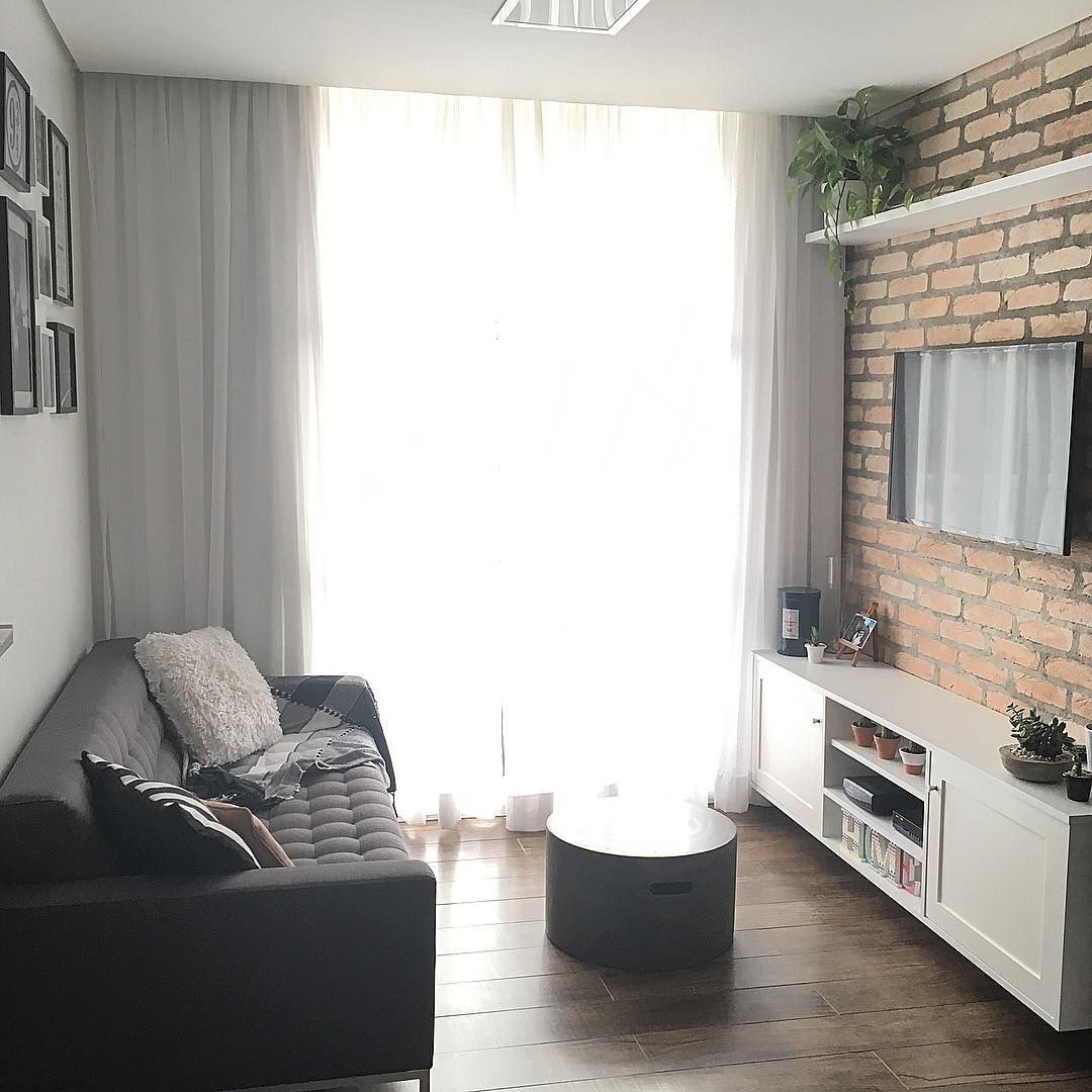 70 ideias de salas pequenas decoradas e lindas para se Salas en l para espacios pequenos