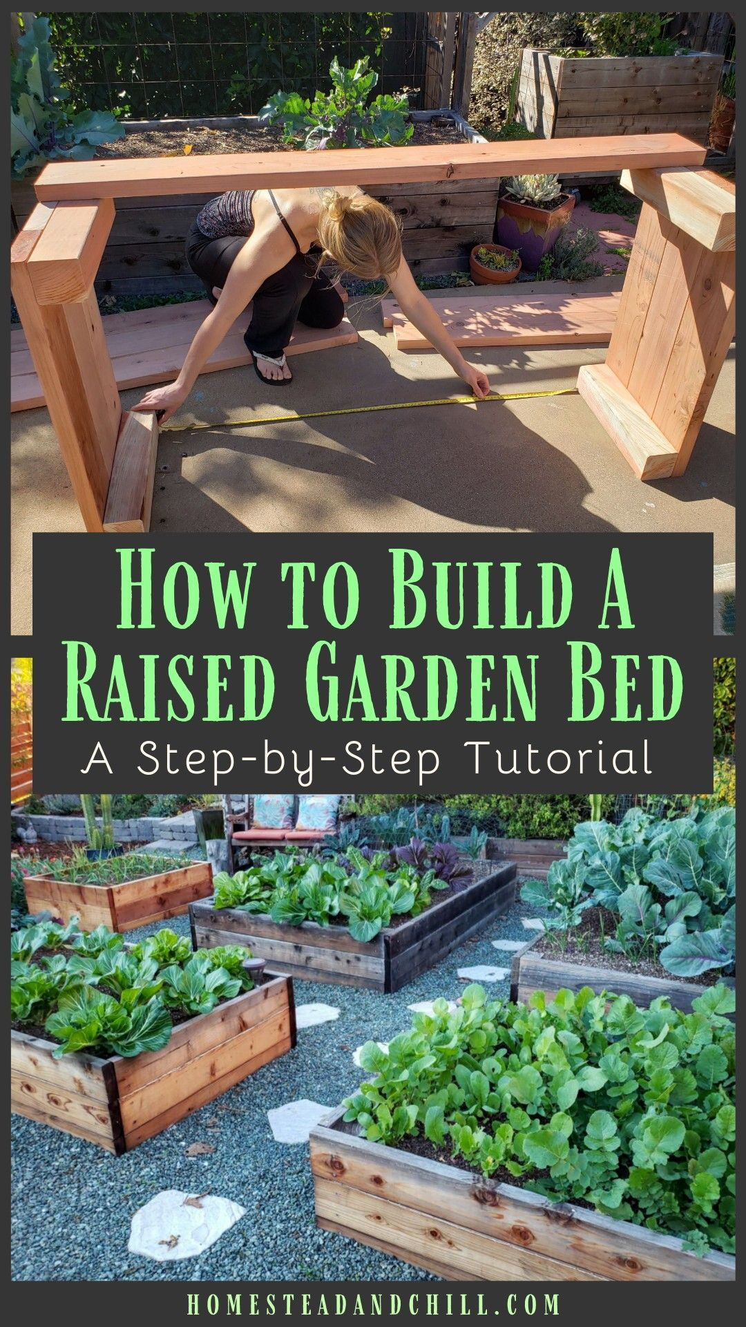 How to Design & Build a Raised Garden Bed is part of Garden types, Building a raised garden, Raised garden, Beautiful raised garden beds, Raised garden beds, Garden beds - Let's go over everything you need to know to build a durable and beautiful raised garden bed, including location, design, supplies needed, best practices, wood types, and stepbystep instructions