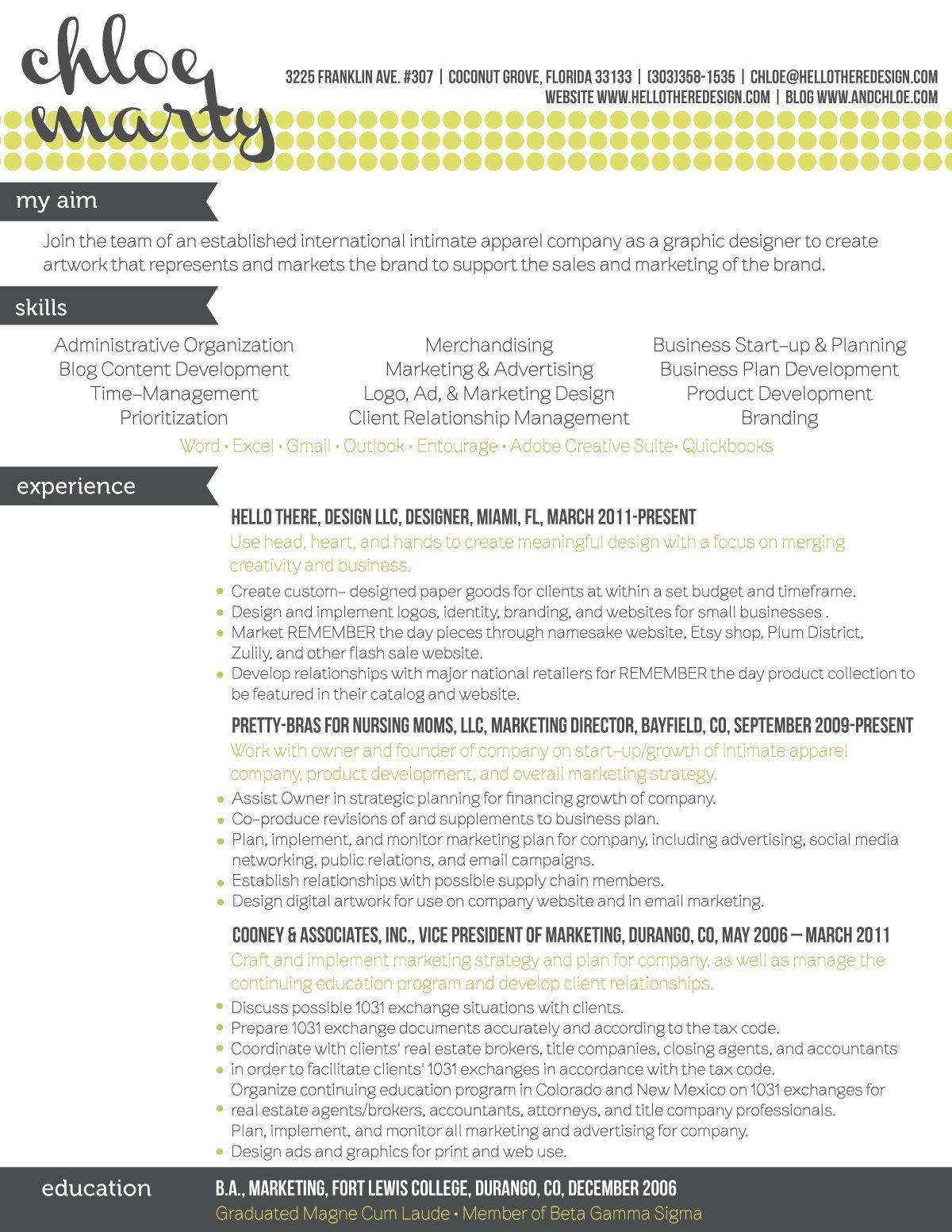 designer resumes, design resumes #webdesign #resumes via www ...