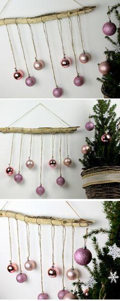 ☆ DIY ausgefallene, weihnachtliche Wanddekoration aus Treibholz mit