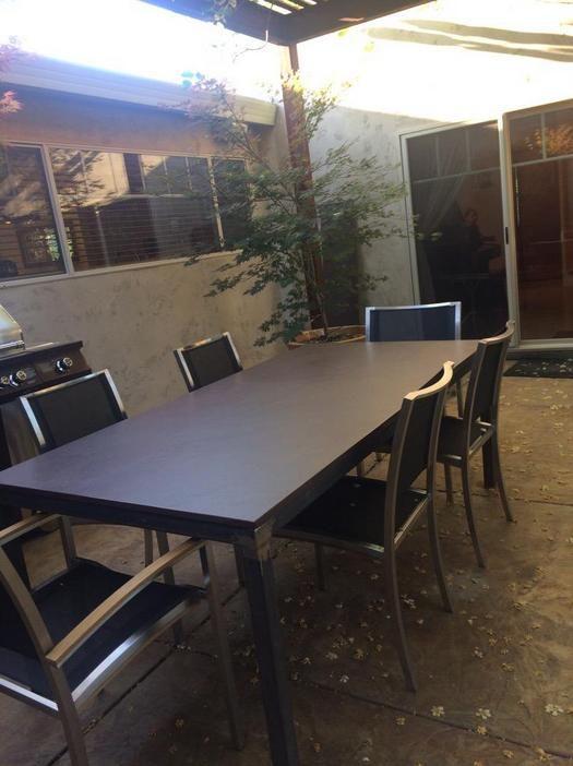 Dekton Kadum outdoor dining table