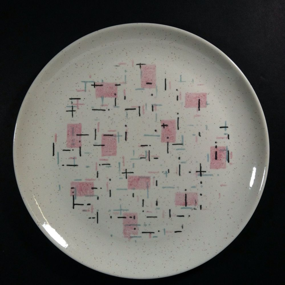 Vintage Vernonware Pottery Dinner Plate Tickled Pink Replacement Mid-Century MCM | eBay & Vintage Vernonware Pottery Dinner Plate Tickled Pink Replacement Mid ...