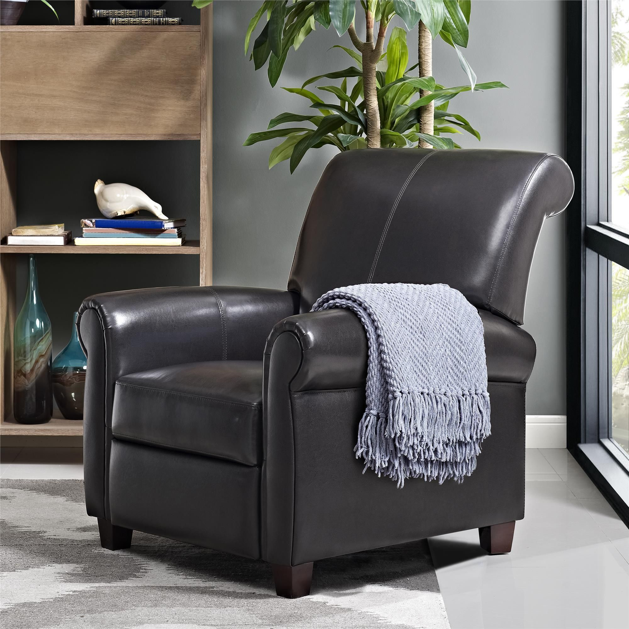 Awesome Dorel Living Savannah Pushback Recliner Recliner Brown Bralicious Painted Fabric Chair Ideas Braliciousco