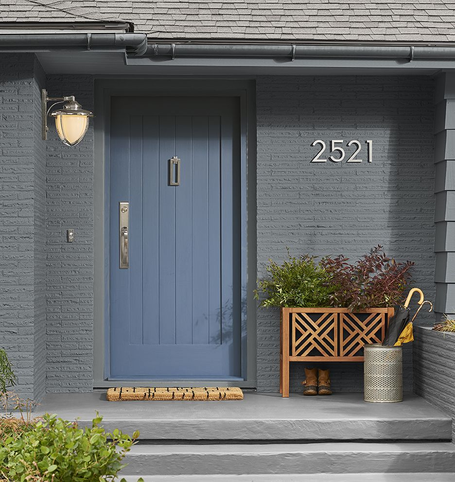6 Modern House Numbers Modern House and Interior barn doors
