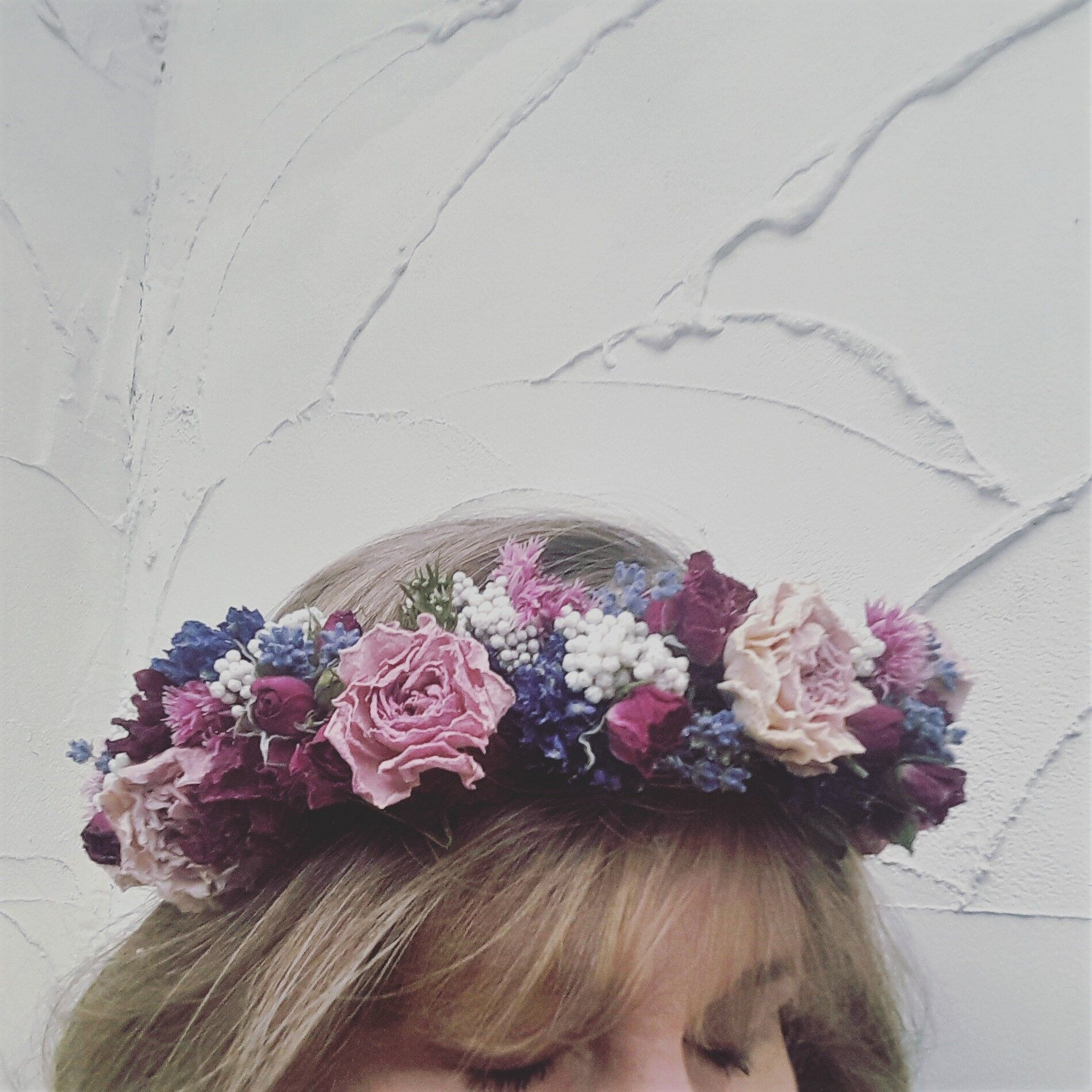 Dried Floral Flowercrown Wedding Flowers Flowers Dried Floral