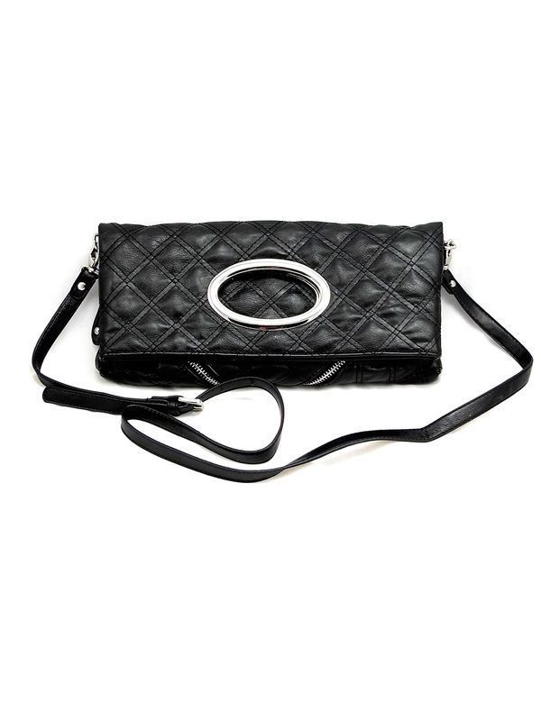 Black Fold Over Purse - $44.00 : FashionCupcake, Designer Clothing, Accessories, and Gifts