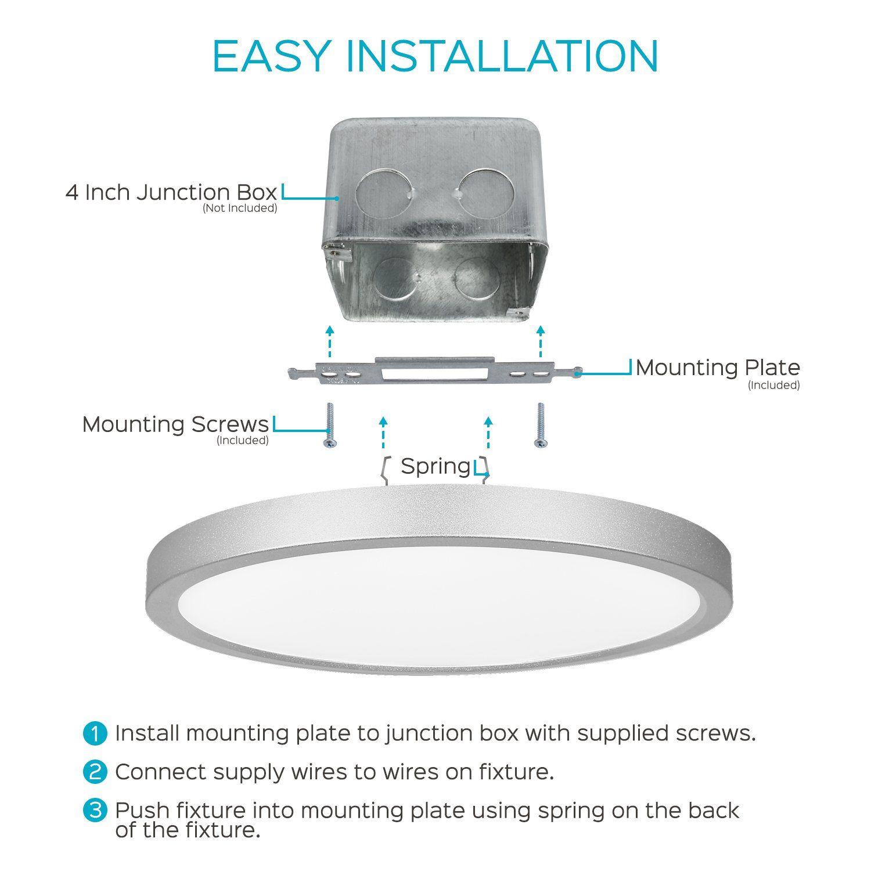 cheap for discount 9e267 c4b9f 4Pack 9 Inch LED Flush Mount Ceiling Light Luxrite 3000K ...