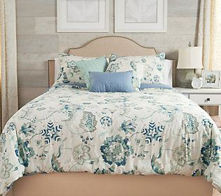 Home by SHR Floral Twin Cotton Comforter Set with 3 Pillows — QVC.com
