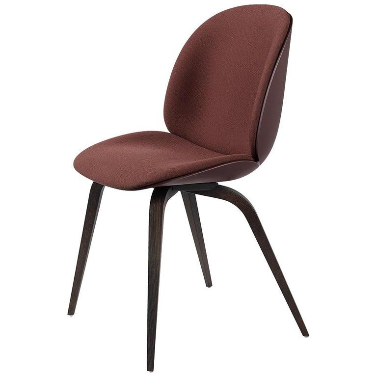 Photo of Beetle Dining Chair, Front Upholstered, Natural Oak