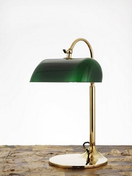 The Emeralite Lamp Or Commonly Referred To As The Banker Table Lamp Was First Designed In 1909 But Was Developed T Bankers Desk Lamp Desk Lamp Art Deco Lamps