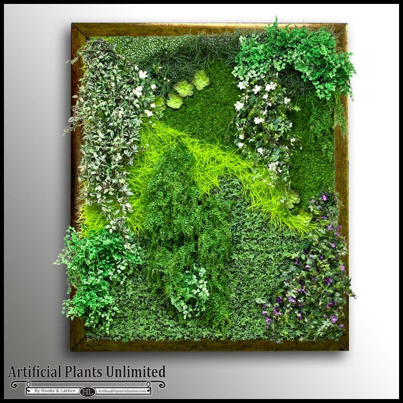 Elegant Get The Latest In Green Interior Design With AFramed Living Wall. This  Replica Green Wall With A Dark Stainedframe Is The Ultimate Modern Accent.