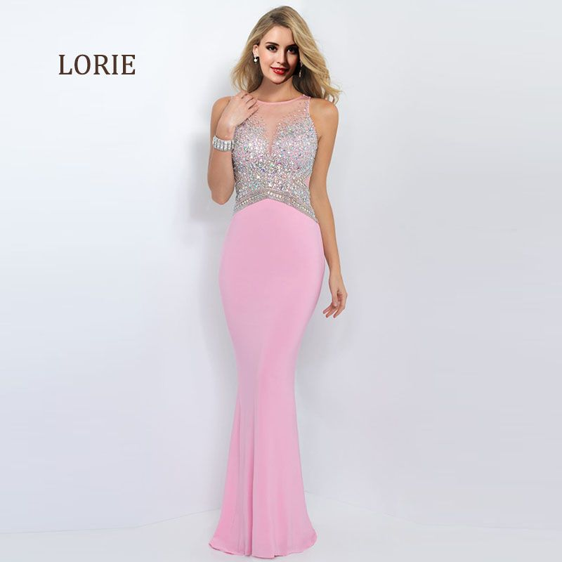 Pink Prom Dresses with Rhinestones O-Neck See Through Mint Green ...