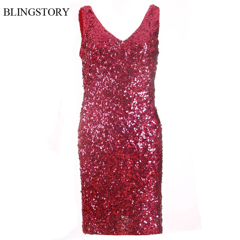 Click to Buy    BLINGSTORY Sexy Bling-Bling V-collar Two Sides ... 9d3b362b4596