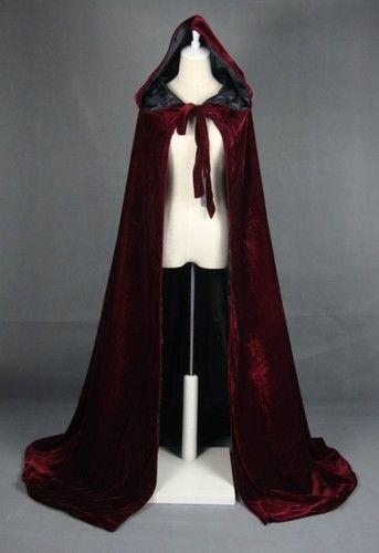 wein cape umhang mit mantel kapuze hochzeit schal mittelalter gothic gewandung ebay kost me. Black Bedroom Furniture Sets. Home Design Ideas