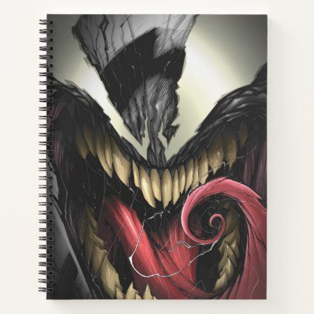 Spider-Man | Venom Close-Up Notebook - tap/click to get yours right now! #Notebook  #venom #spiderman #villain #lethal #protector