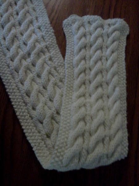 Knitting Reversible Cable Scarf Knit Patterns Neck Such