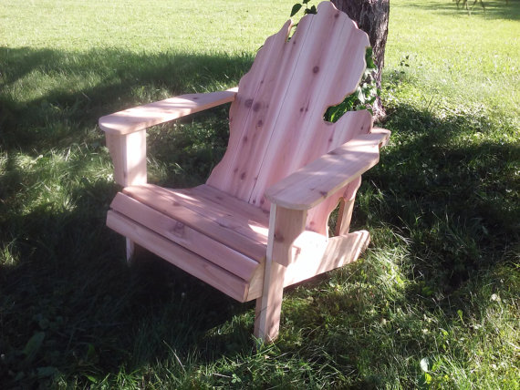 michigan adirondack chair kids craft table and chairs rough kit by naturalcrafting on etsy