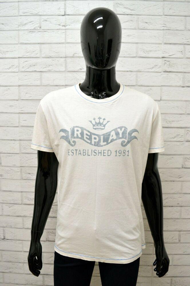 buy online 6bcc8 cddcb Maglia REPLAY Uomo Taglia Size XL Maglietta Shirt Man Cotone ...