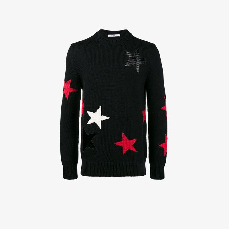 Black wool cut-out star sweater from Givenchy.