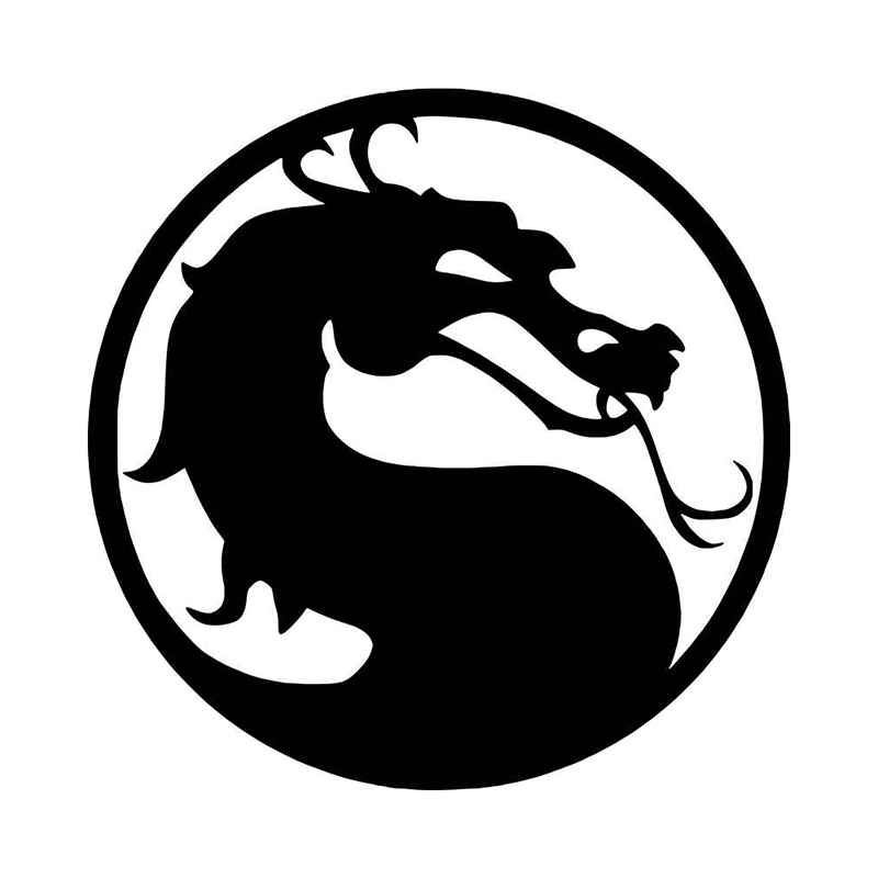 Mortal Kombat Logo Vinyl Decal Sticker Mortal Kombat Mortal