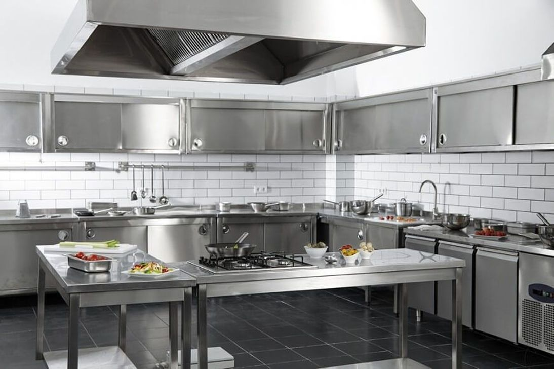 30 Impressive Stainless Steel Kitchen Table Design Ideas Trenduhome Restaurant Kitchen Design Stainless Steel Kitchen Cabinets Metal Kitchen Cabinets