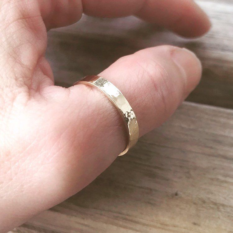 Hammered Gold Filled Thumb Ring Boho Thumb Ring Gold Band Slim Thumb Ring Shown In Size 8 Gold Filled Rings Gold Rings Boho Thumb Ring Gold Filled Ring Gold Bands