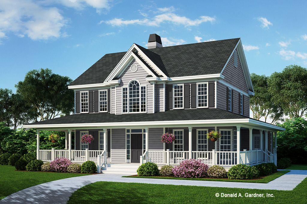 Farmhouse style house plan 4 beds 35 baths 2182 sqft