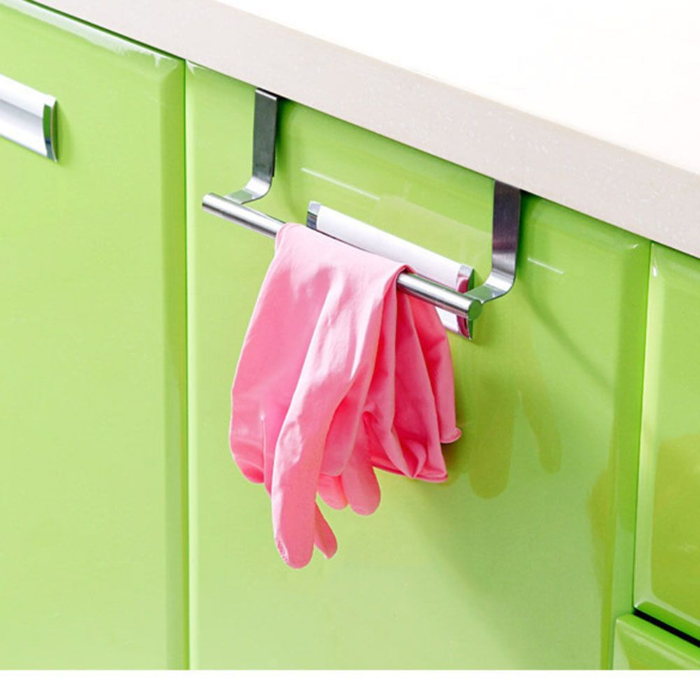 Stainless Steel Towel Bar Holder Over The Kitchen Cabinet Cupboard Door Hanging Rack Storage Holders Stainless Steel Bathroom Stainless Steel Kitchen Towel Bar