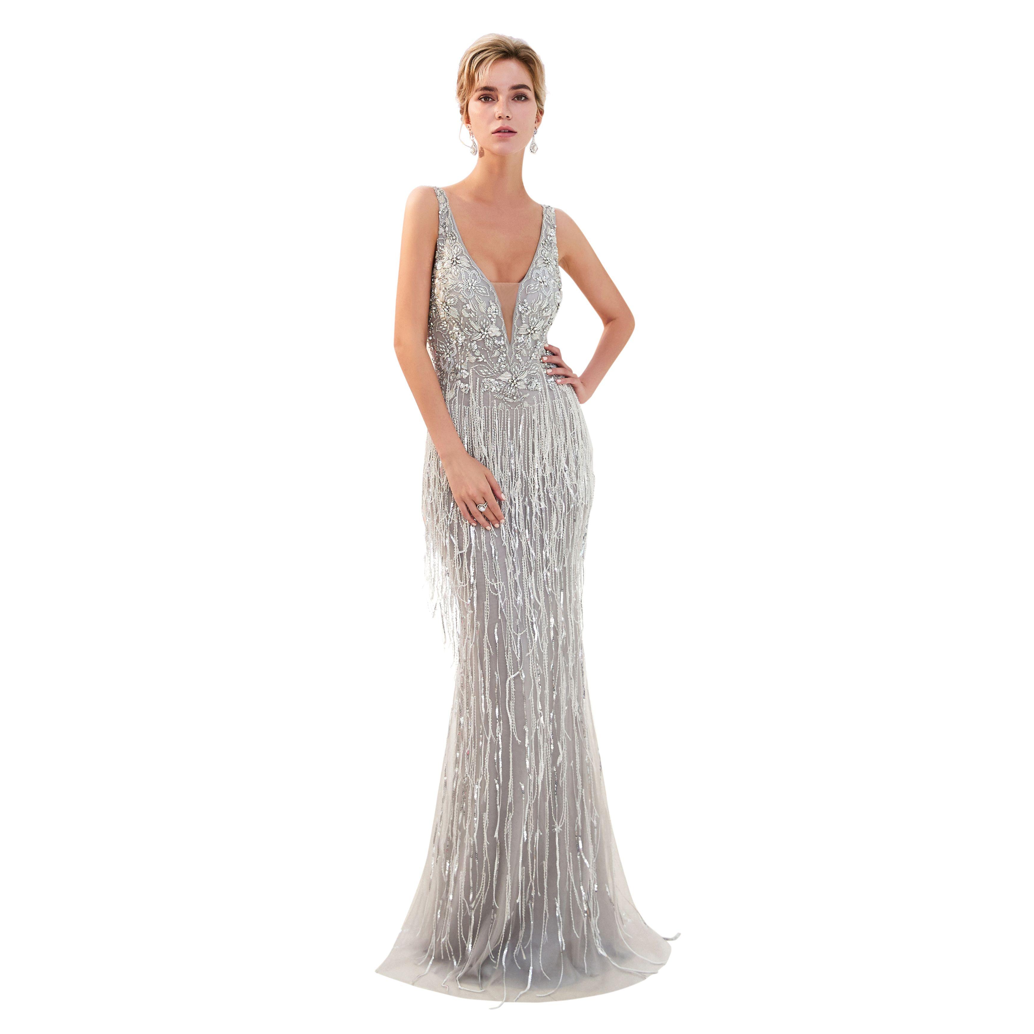 44+ Silver beaded dress info