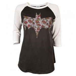 Junk Food Ladies Floral Batman Print T Shirt