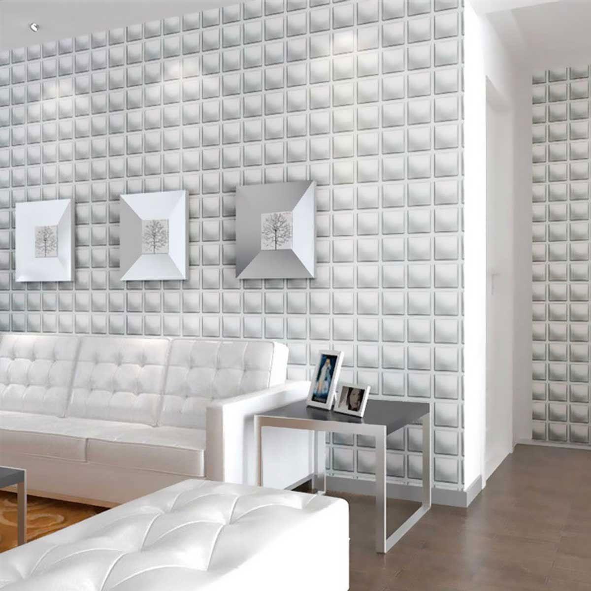 19 5 8 Inch W X 19 5 8 Inch H Classic Endurawall Decorative 3d Wall Panel White 3d Wall Panels Ikea Wall Decor Ikea Wall
