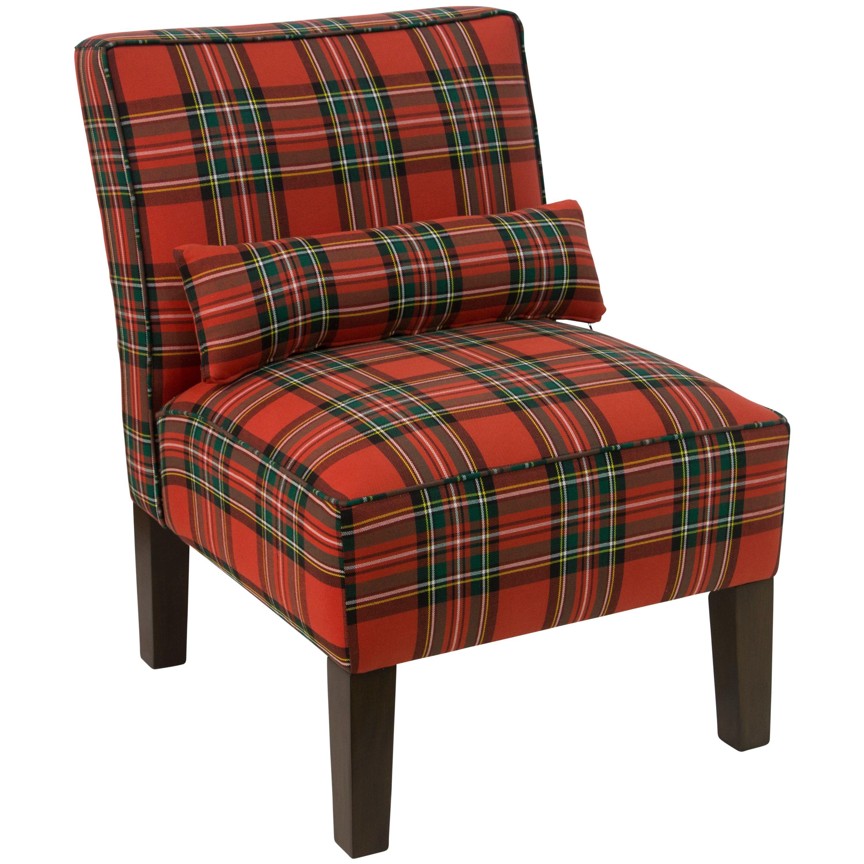 Best Skyline Furniture Ancient Stewart Red Plaid Armless 400 x 300