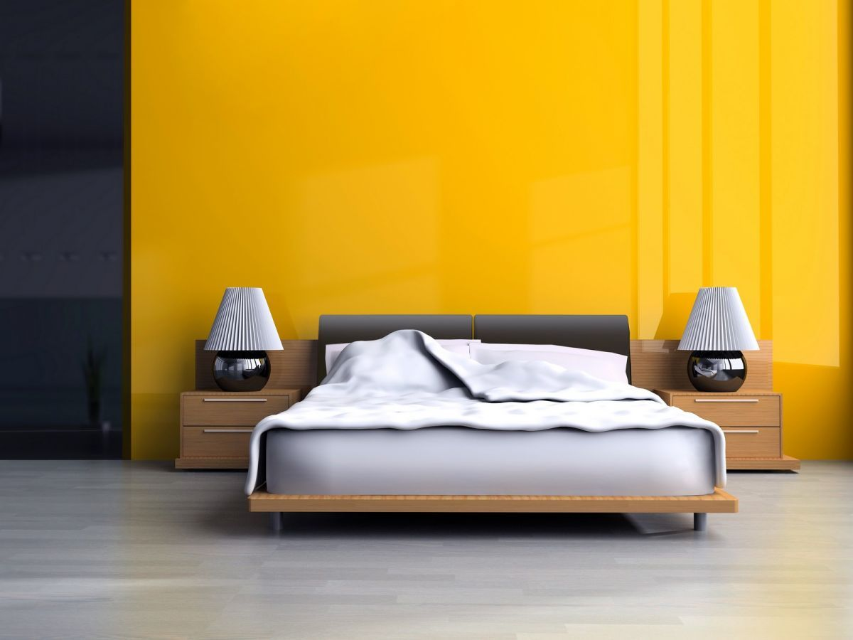 Vibrant yellow wall for the bold and wild | Bald hairstyles, Walls ...