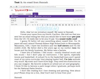 Terjemahan Text 1 An Email From Hannah Untuk Alia Bahasa Inggris Kelas 10 Bahasa Inggris