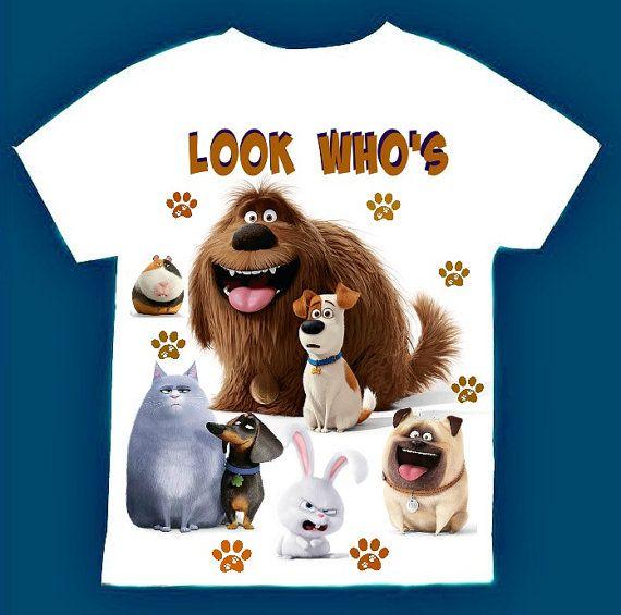 Secret Life of Pets Group Custom T-shirt Personalize tshirt Birthday gift Tee