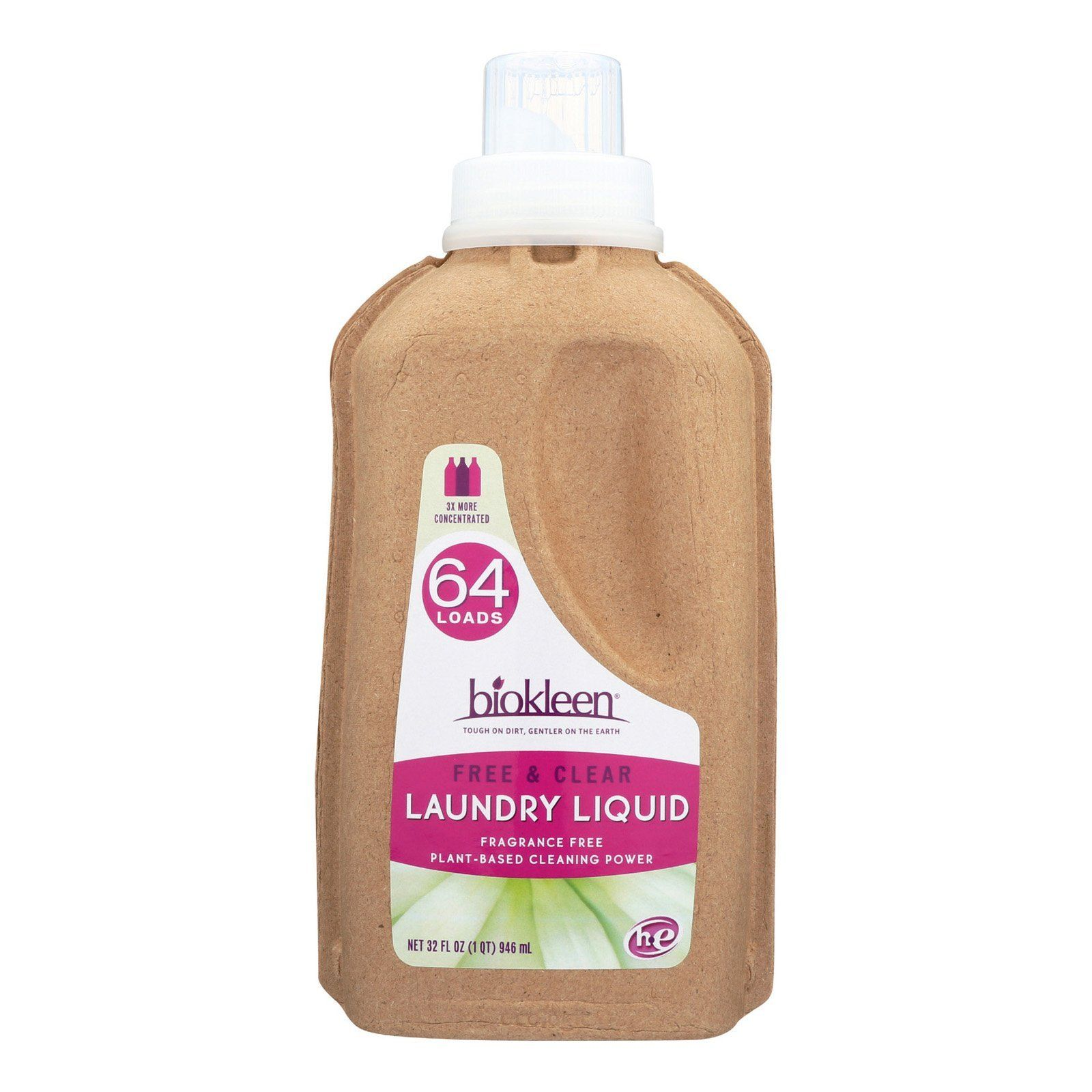 Biokleen Laundry Liquid Free And Clear Bio 32 Oz Case Of 6