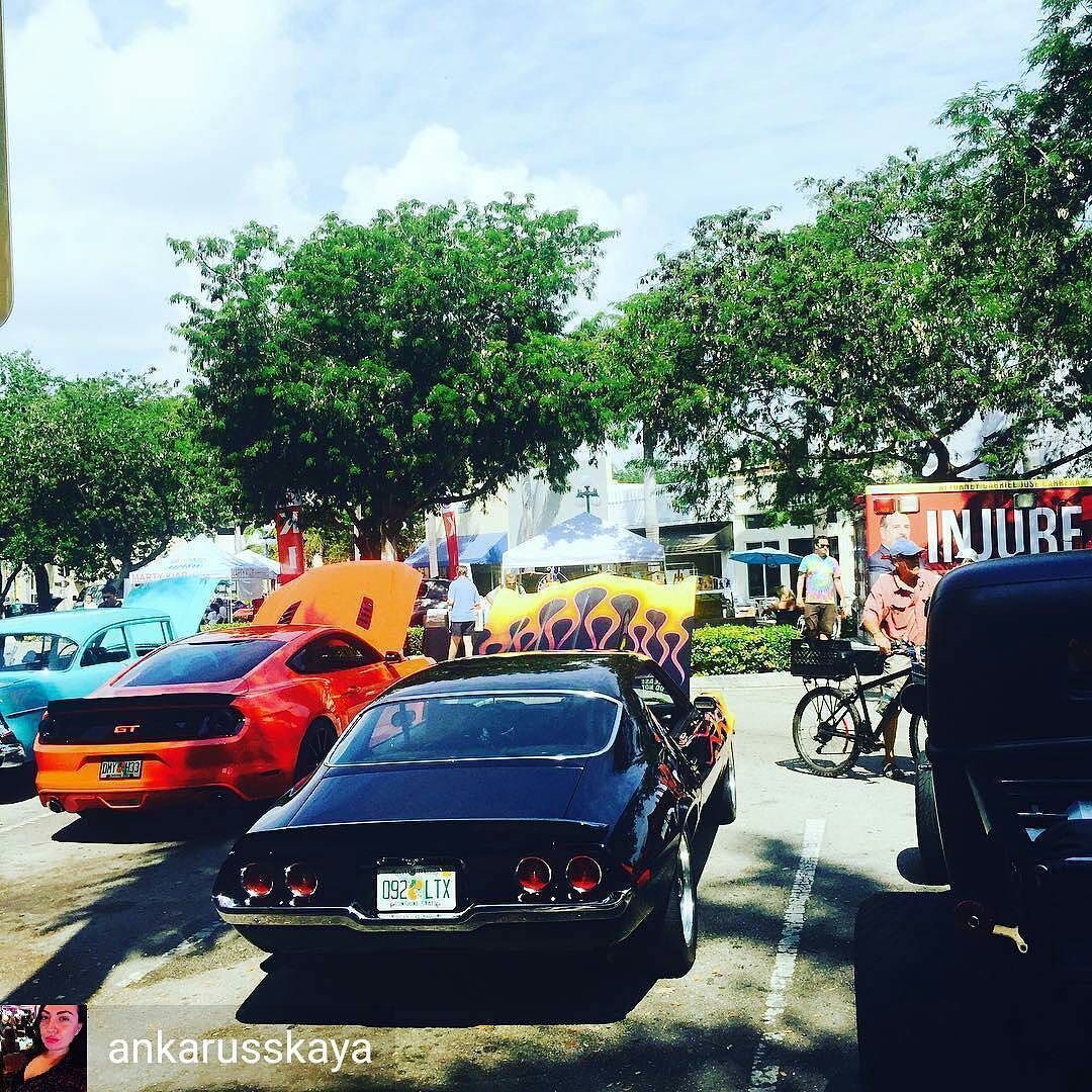 Credit To Ankarusskaya Classic Car Show Today DowntownHollywood - Car show miami today