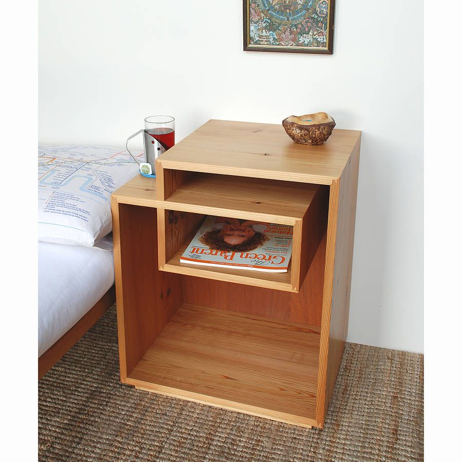 Bedside table design plans - Inside The Box Bedside Table