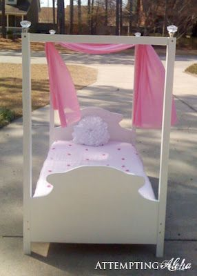 buy popular 3cc01 fd9c5 Toddler canopy bed plans and instructions. Easier than you ...