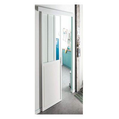 Porta da interno scorrevole Atelier Bianco 86 x H 215 cm reversibile ...