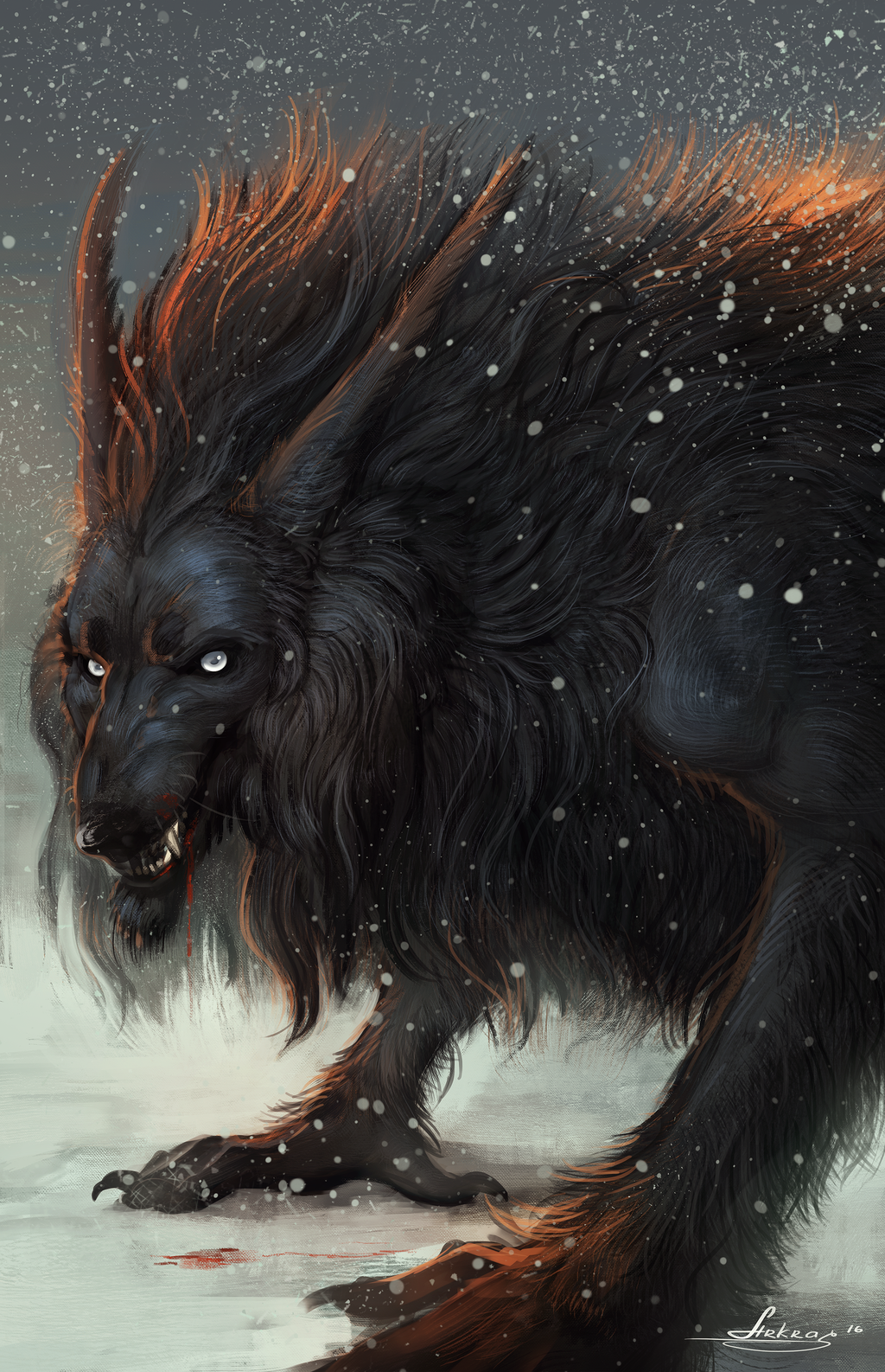 A wolf is a terrible beast or a calculating animal 78