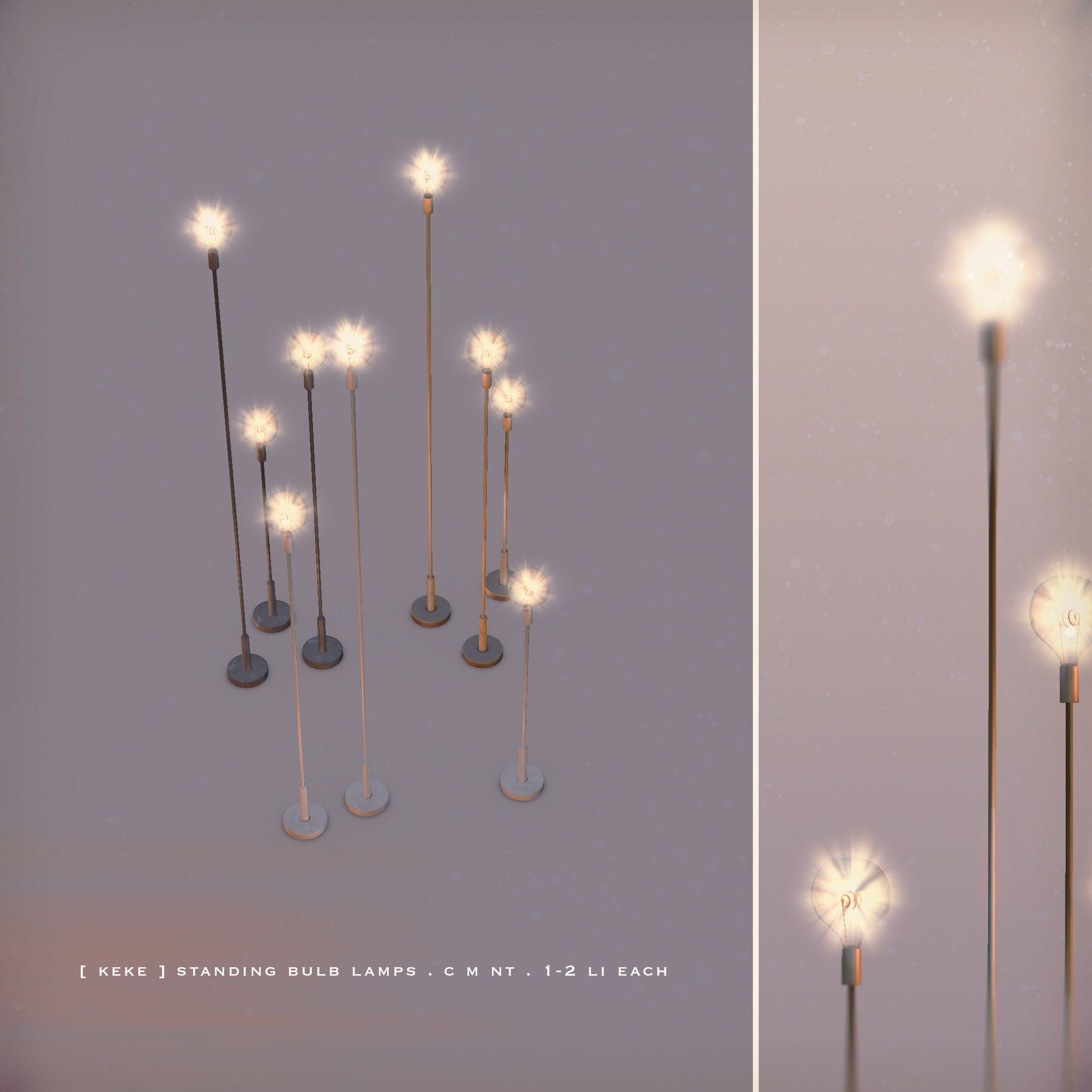 Keke Standing Bulb Lamps Sims 4 Cc Furniture Sims 4 Houses Sims 4 Bedroom