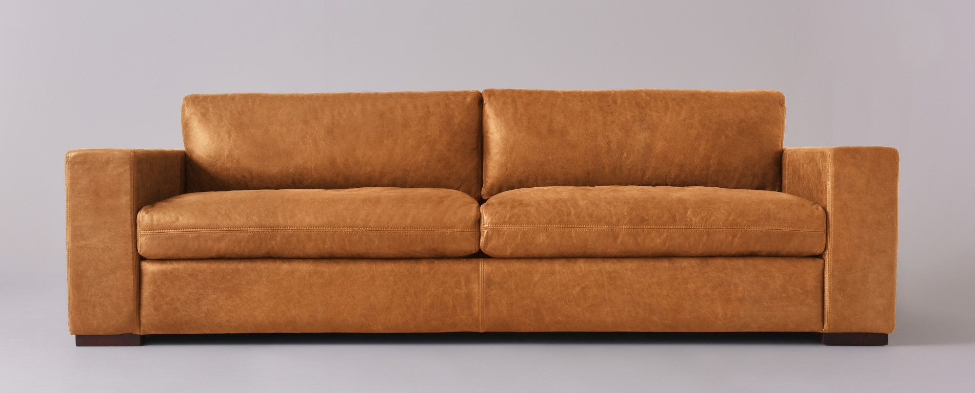 Aberdeen Leather Sofa 32 H X 96 W 41 D Sixpenny
