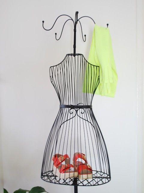 Female Wire Mannequin Hat Scarf Hook Shoe Bag Display ...