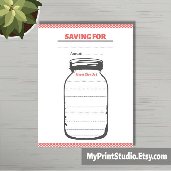 photograph about Savings Jar Printable identify Financial savings Planner, Jar Tracker, Preserving Intent Finance Organizer
