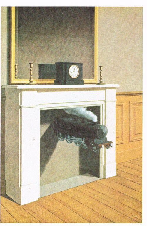 Zestien prentbriefkaarten aangeboden door de Nederlandse Spoorwegen. Collectoritem. René Magritte & Een spoorwegschilderijenkabinet. Zestien prentbriefkaarten ...
