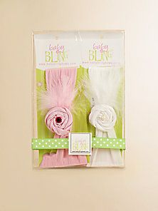 Baby Bling - Infant's 2-Piece Feather & Rhinestone Headband Gift Set - Saks Fifth Avenue Mobile