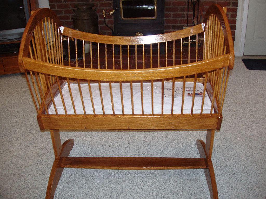 Oak Bassinet made by Timeless Woodshop  Cradles
