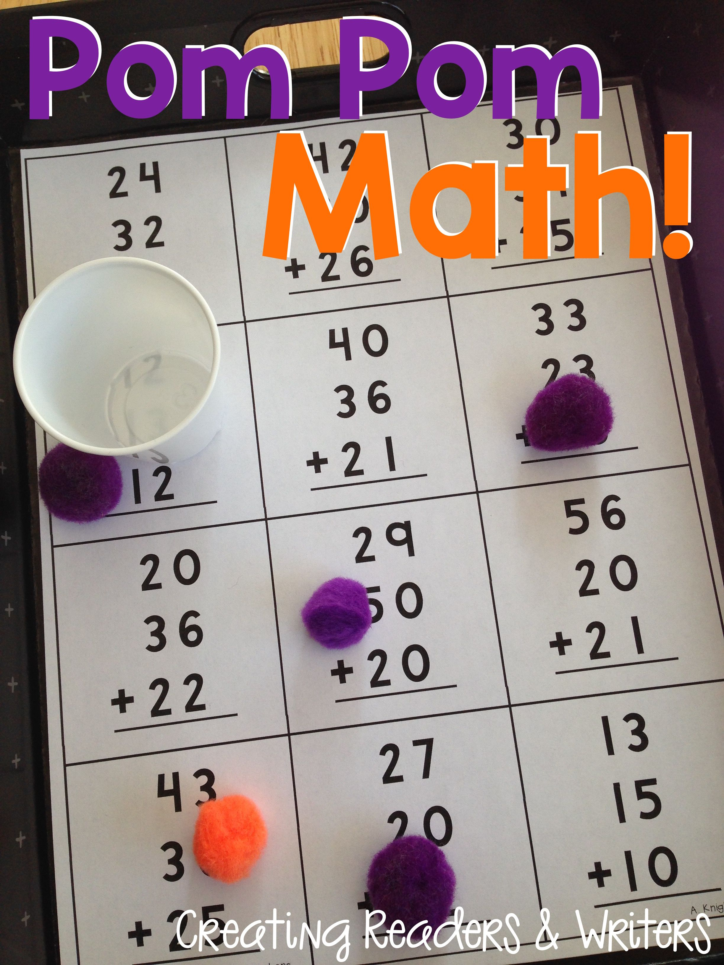 Pom Pom Math Games For 2nd Grade More Than 40 Games In This Set Super Simple To Make And Great For Math Centers Too 58 Pages Math Math Games Fun Math [ 3264 x 2448 Pixel ]